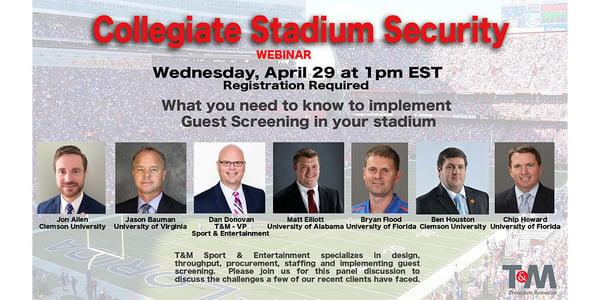 Collegiate Stadium Security Guest Screening